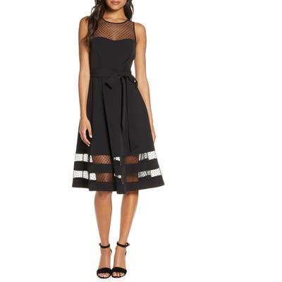 Eliza J Sleeveless Fit & Flare Party Dress, Black