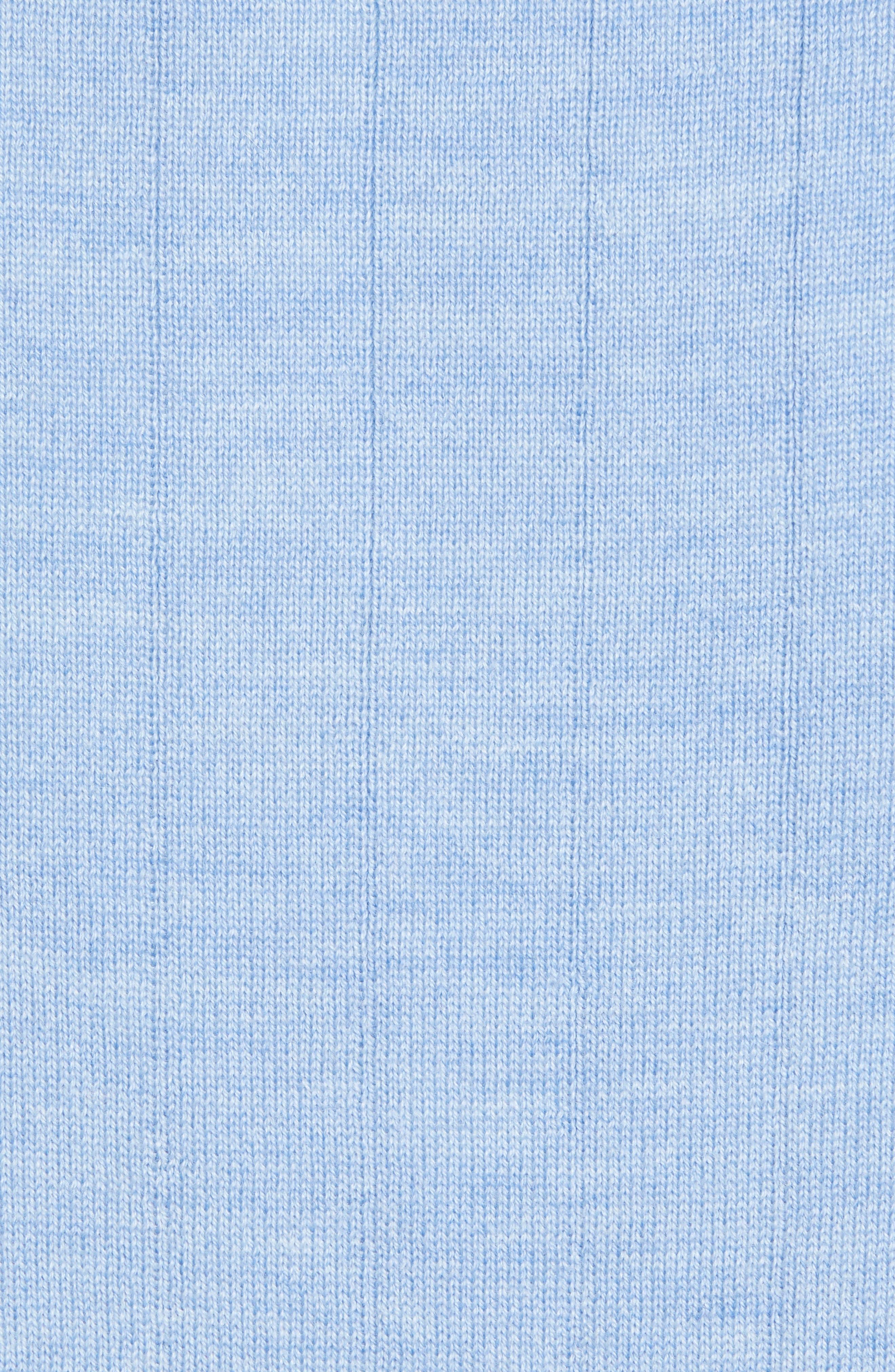,                             Quarter Zip Wool Sweater Vest,                             Alternate thumbnail 5, color,                             LIGHT BLUE