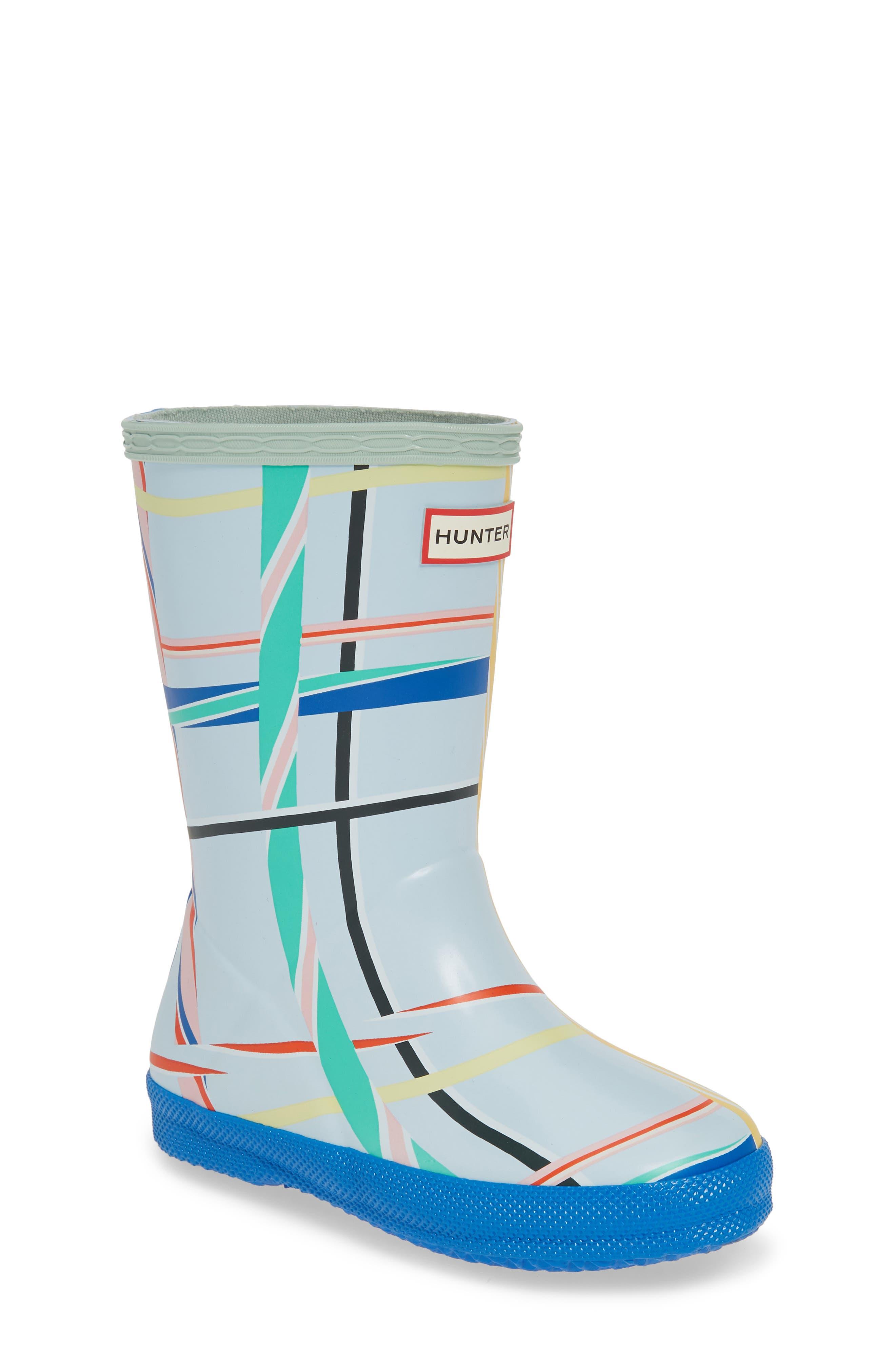 Hunter Tartan Waterproof Rain Boot