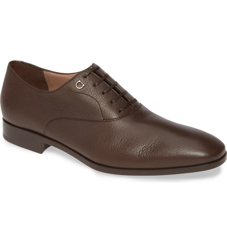 SALVATORE FERRAGAMO Toulouse Plain Toe Oxford, Main, color, WENGE BROWN
