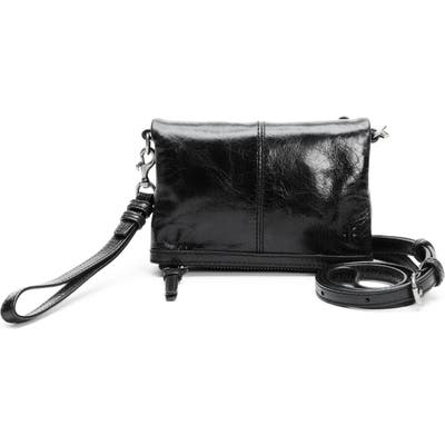 Frye Mel Stadium Leather Crossbody Bag - Black
