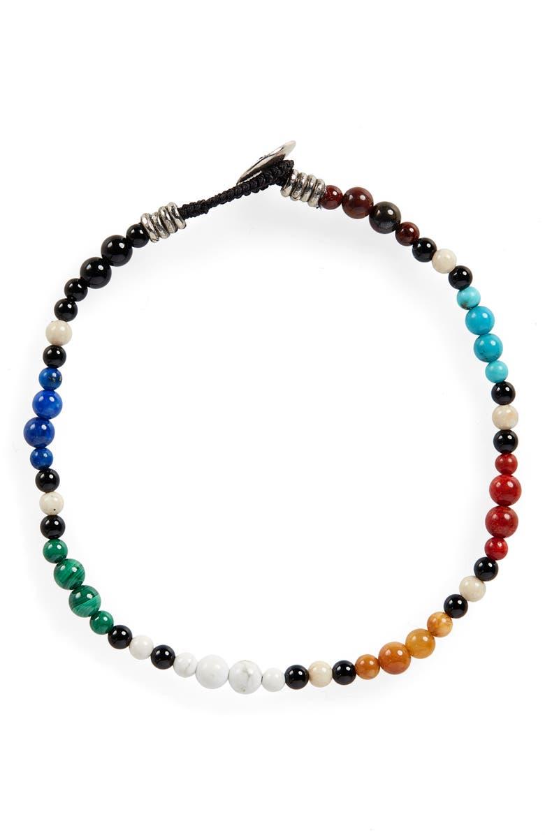 Stone Bead Bracelet by Mikia