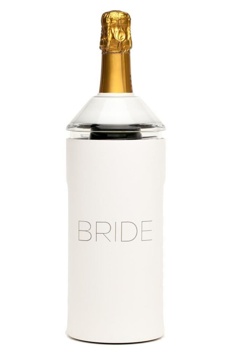 VINGLACÉ Bride Wine Chiller, Main, color, WHITE