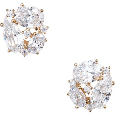 Nadri First Kiss Cluster Stud Earrings