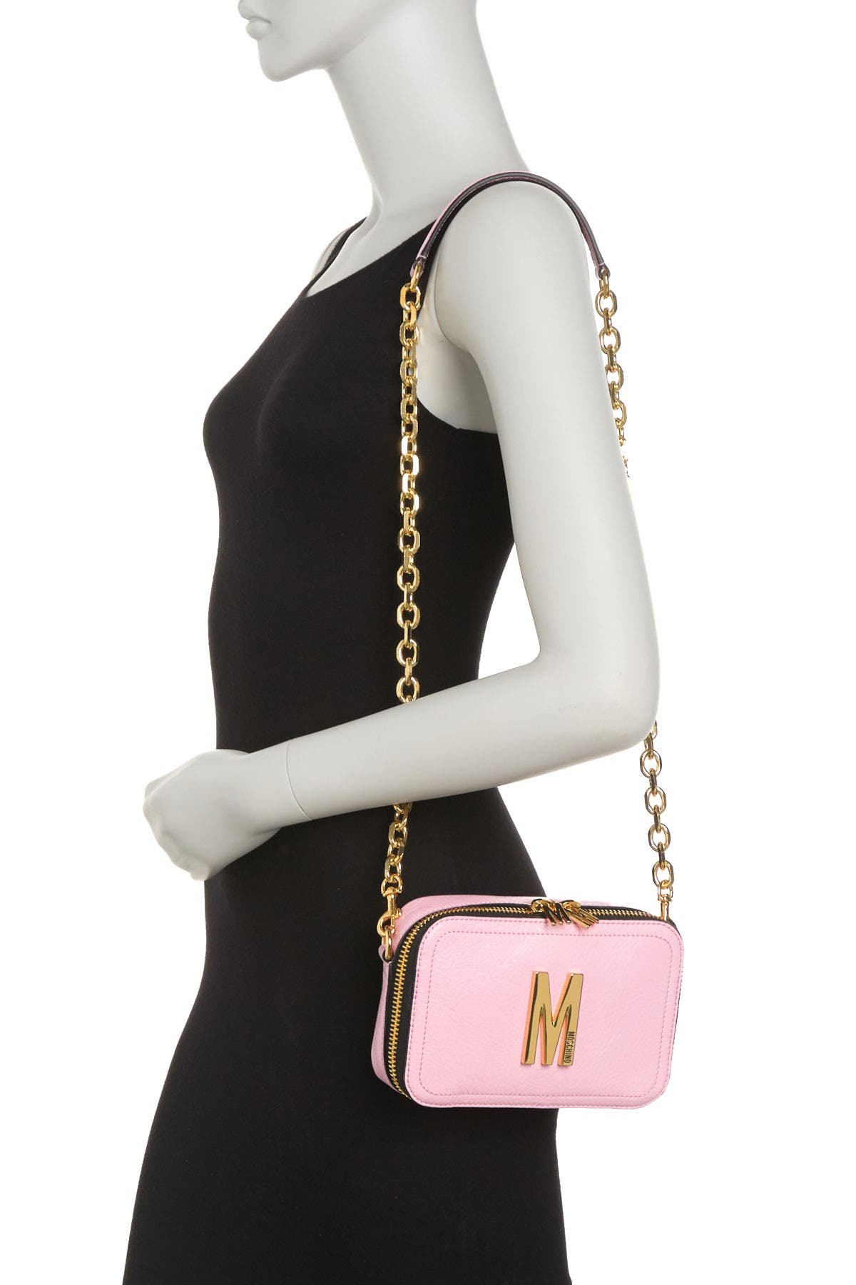 Image of MOSCHINO Convertible Leather Belt Bag