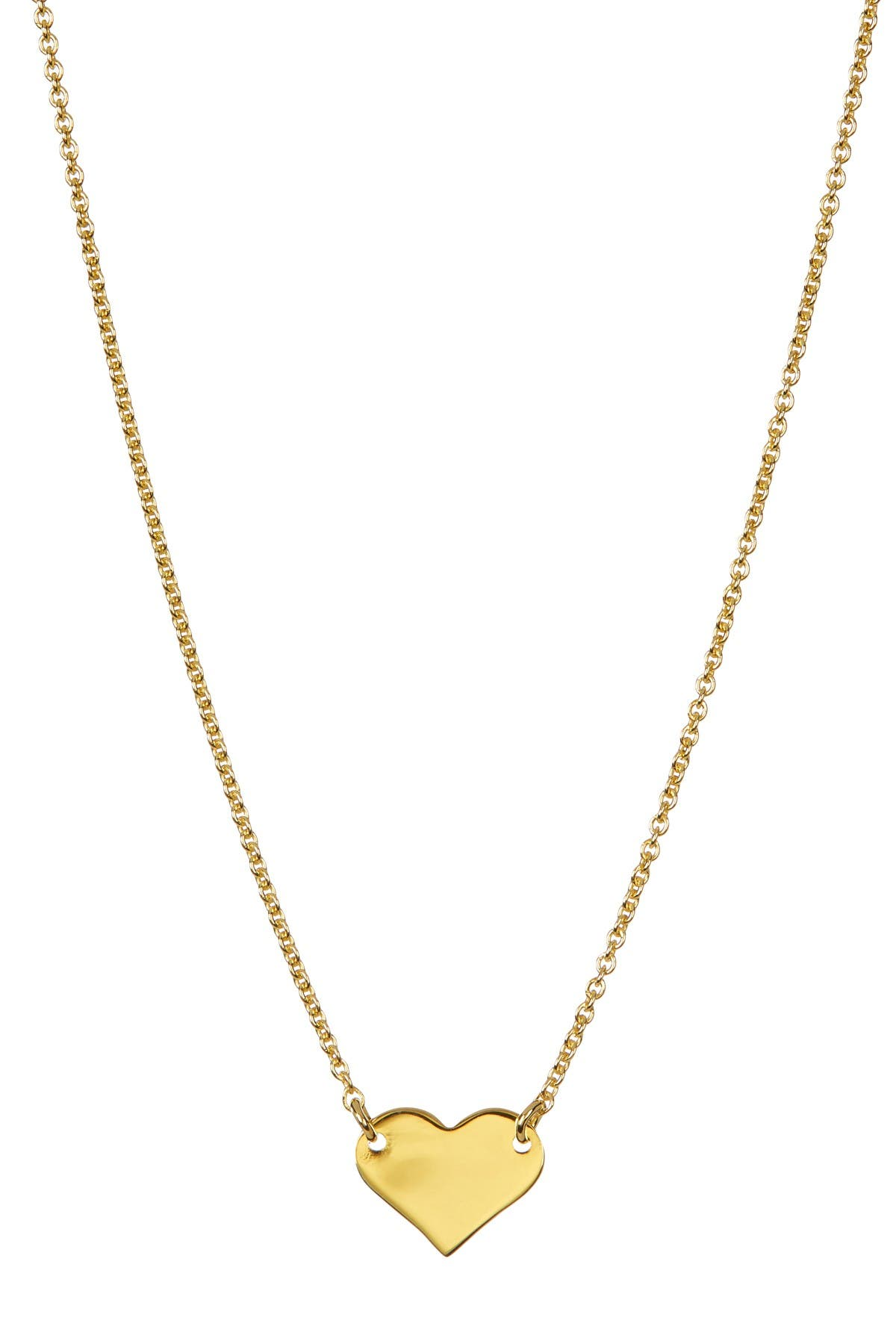 ADORNIA 14K Yellow Gold Plated Sterling Silver Heart Necklace