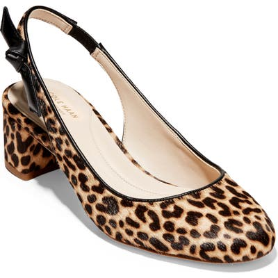 Cole Haan Lainey Bow Slingback Pump B - Brown
