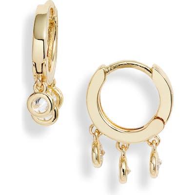 Nordstrom Crystal Drop Huggie Hoop Earrings