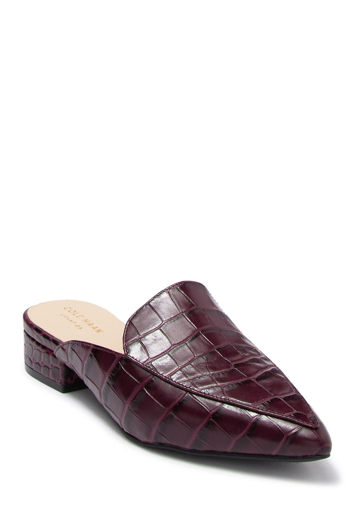 cole haan piper loafer mule leopard