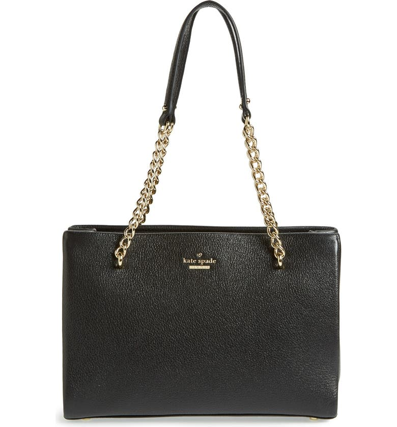 KATE SPADE NEW YORK 'emerson place - small phoebe' leather shoulder bag, Main, color, 001