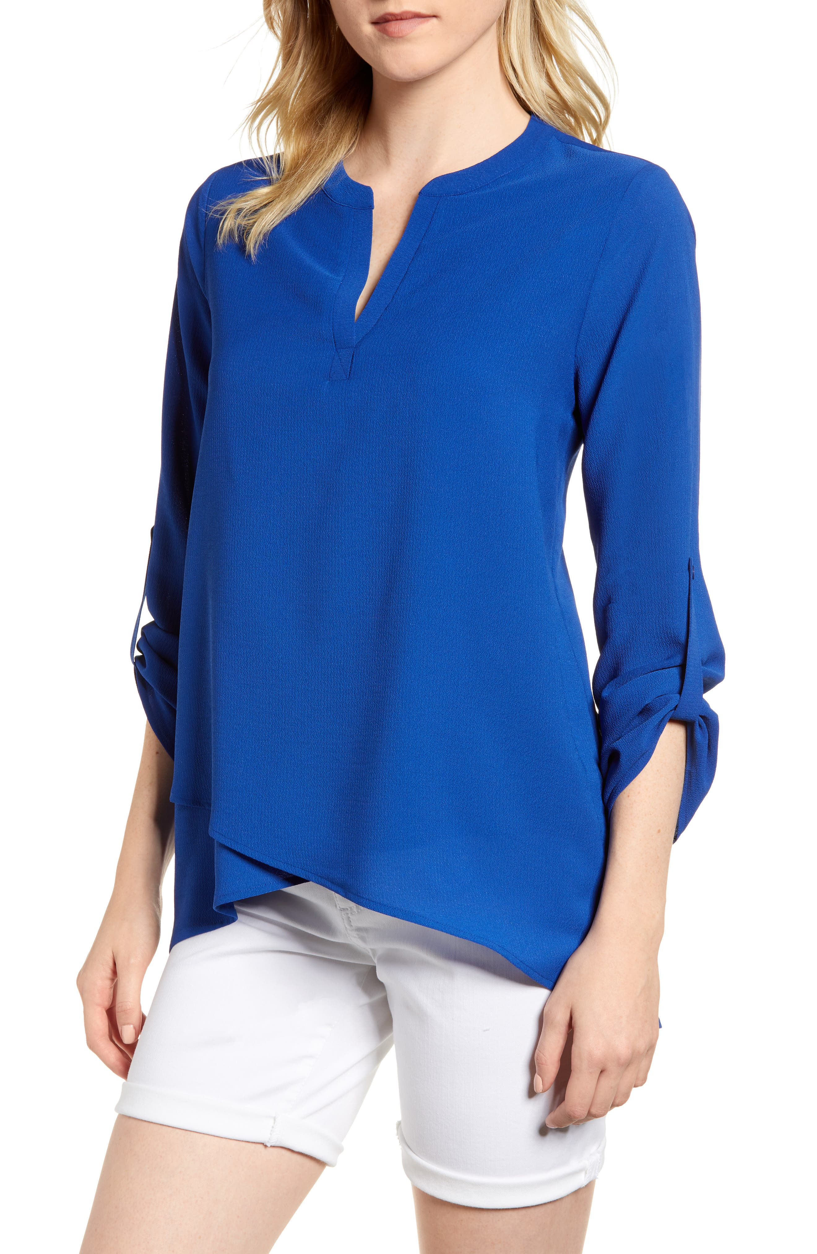 ,                             x International Women's Day Erin Cross Front Tunic Blouse,                             Main thumbnail 33, color,                             433