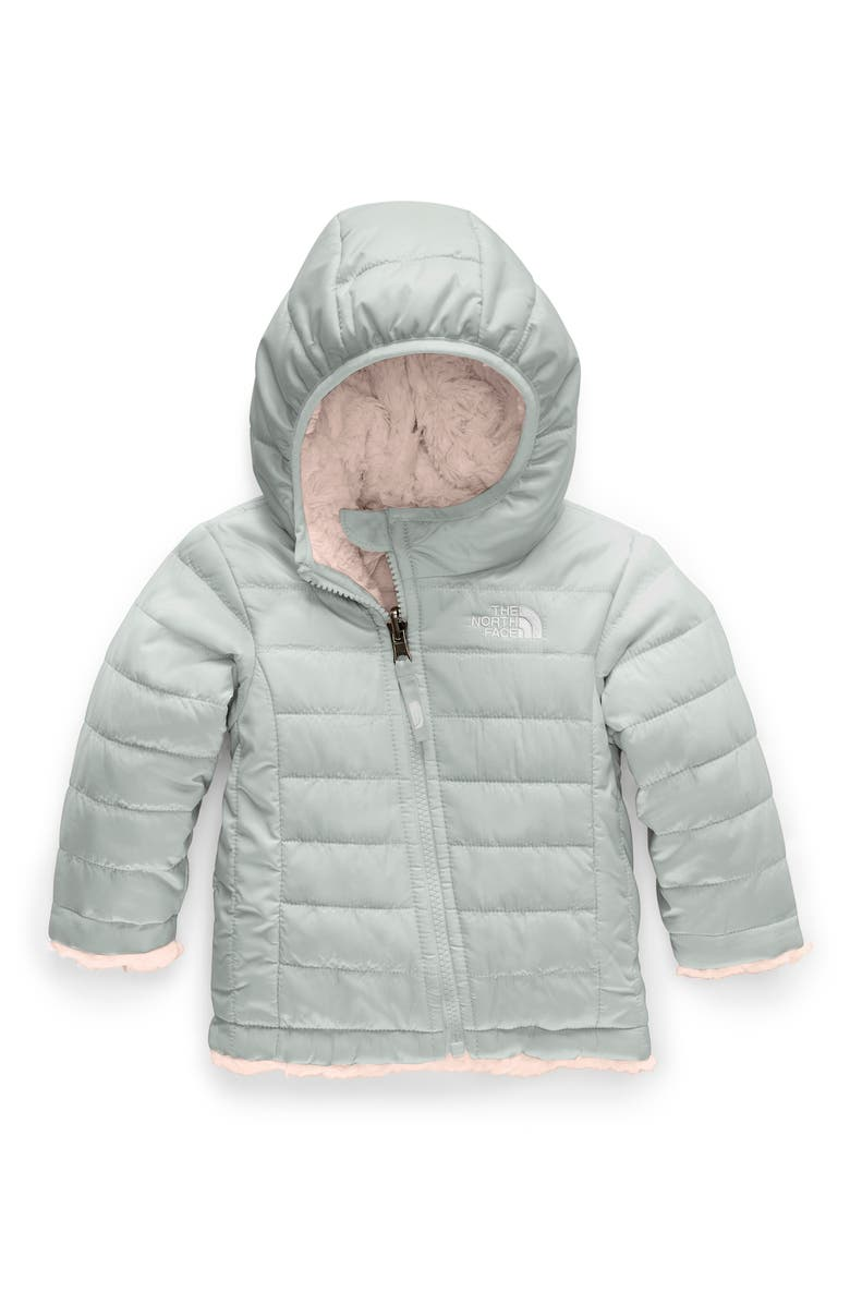 THE NORTH FACE Mossbud Swirl Reversible Water Repellent Heatseeker<sup>™</sup> Jacket, Main, color, MELD GREY