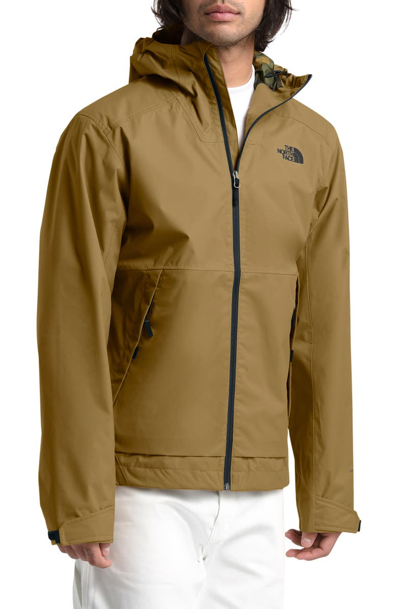 THE NORTH FACE Millerton Hooded Jacket, Main, color, BRITISH KHAKI/ BURNT GREEN