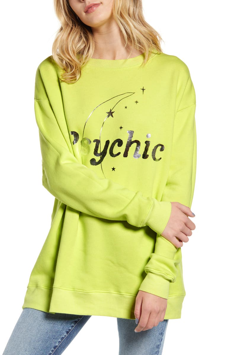 WILDFOX Psychic Road Trip Sweatshirt, Main, color, ELECTRIC
