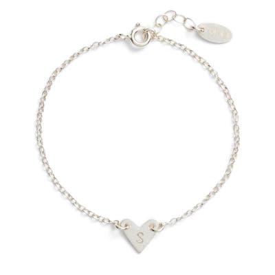 Nashelle Initial Heart Bracelet