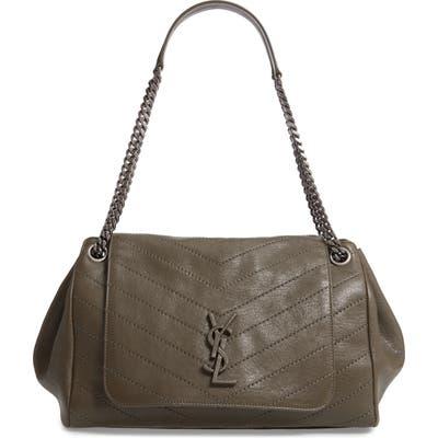 Saint Laurent Medium Nolita Leather Shoulder Bag - Green