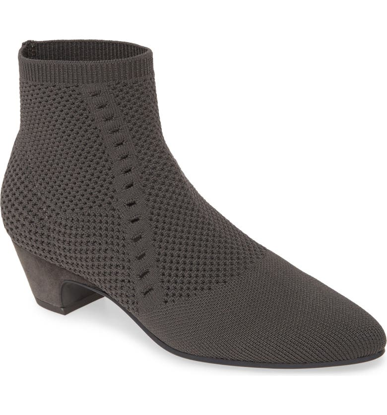 EILEEN FISHER Purl Sock Bootie, Main, color, GRAPHITE STRETCH FABRIC