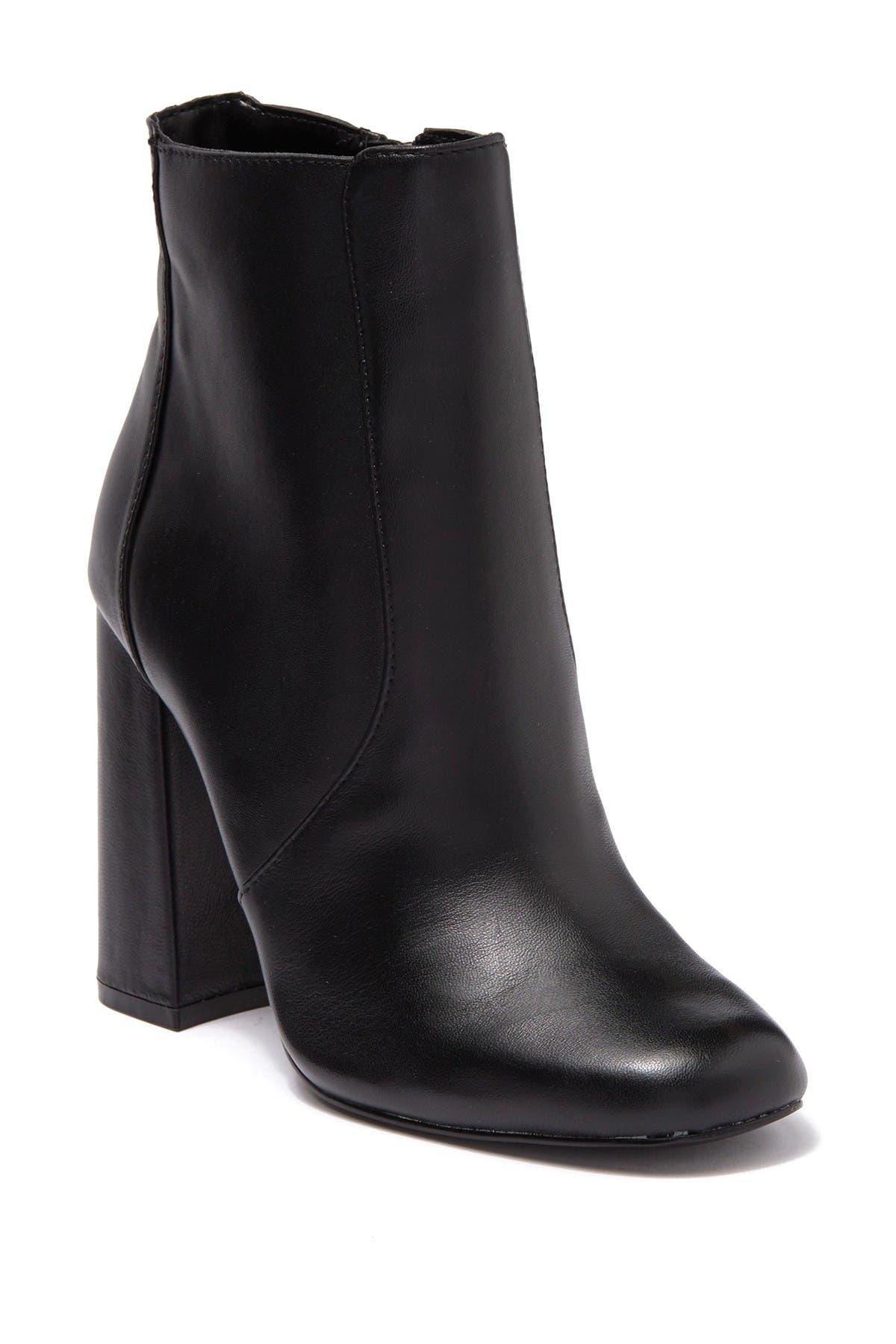 Image of Steve Madden Trix Leather Block Heel Bootie