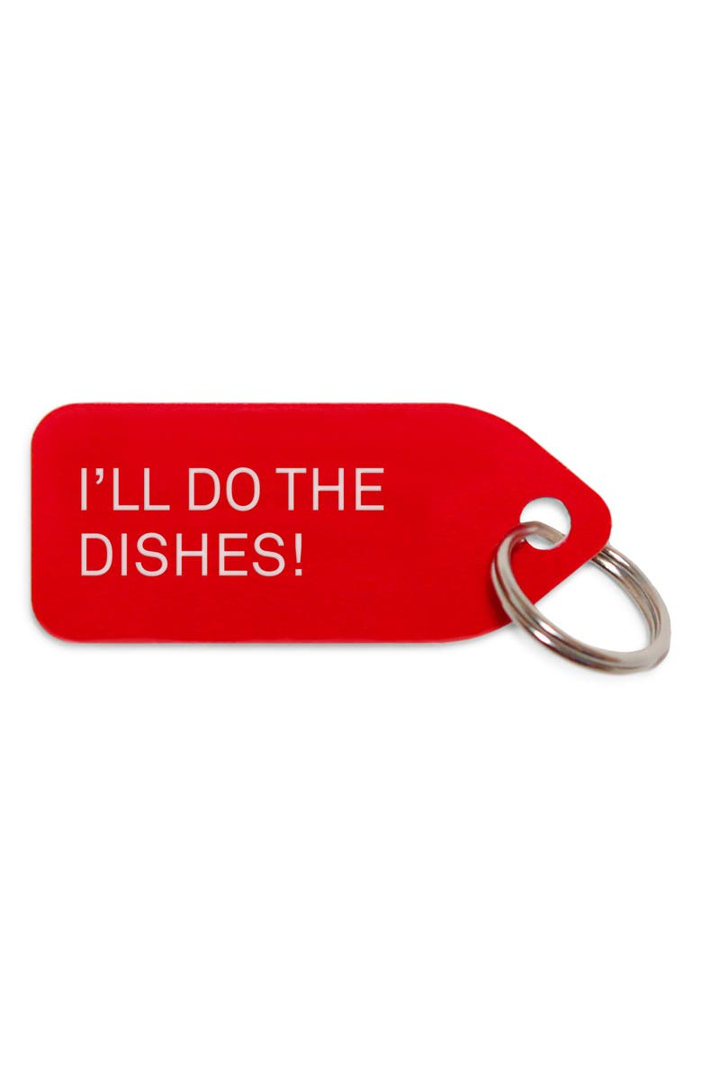 GROWLEES I'll Do the Dishes Collar Charm, Main, color, RED