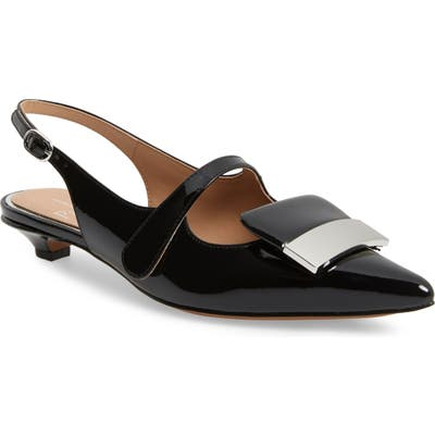 Linea Paolo Capri Low Slingback Pump, Black