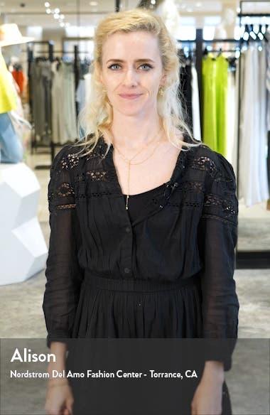 Ravena Brass Button Cotton Minidress, sales video thumbnail