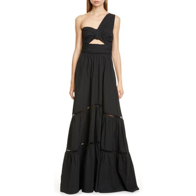 A.l.c. Piper One-Shoulder Maxi Dress, Black