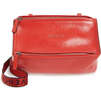 Givenchy Mini Pandora Glazed Leather Shoulder Bag - Red