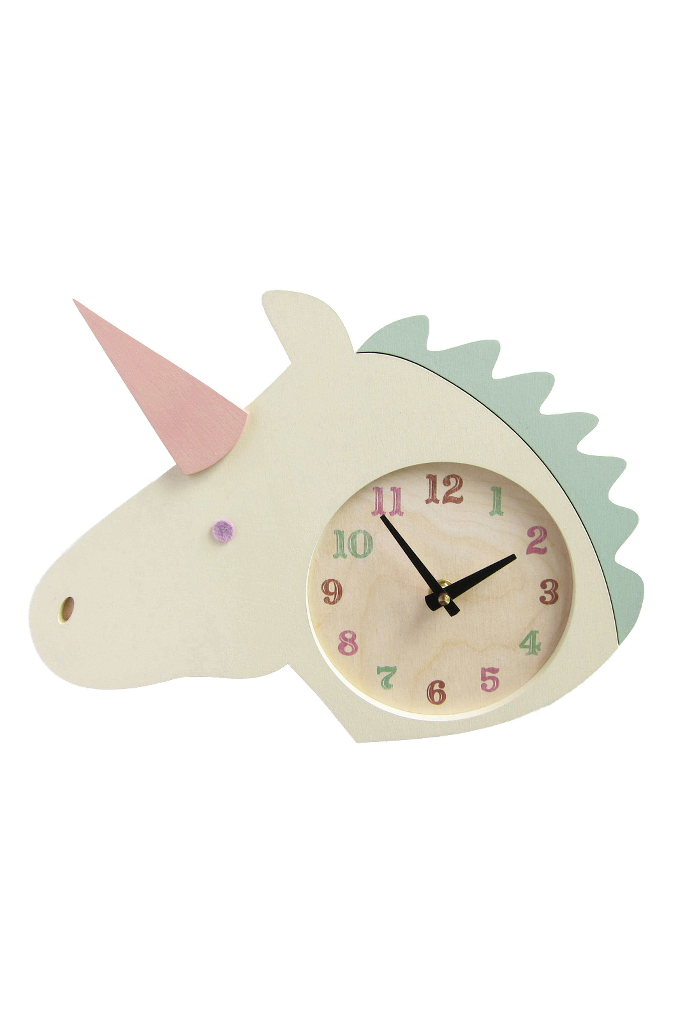 ,                             Unicorn Clock,                             Main thumbnail 1, color,                             UNICORN