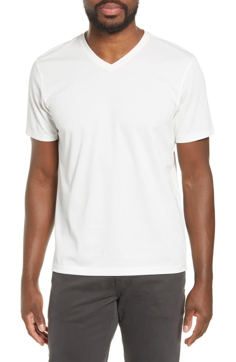 ZACHARY PRELL Brookville Regular Fit Piqué T-Shirt, Main, color, WHITE