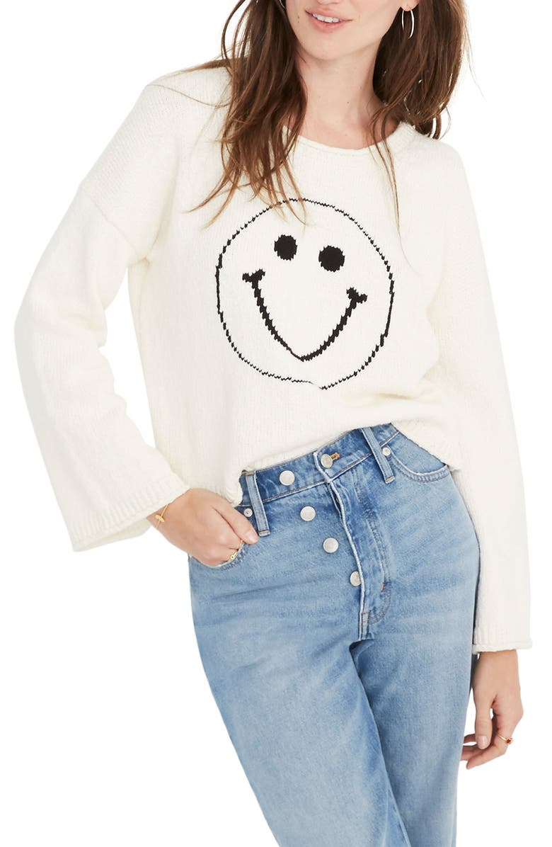 Brownstone Smiley Face Pullover by Madewell