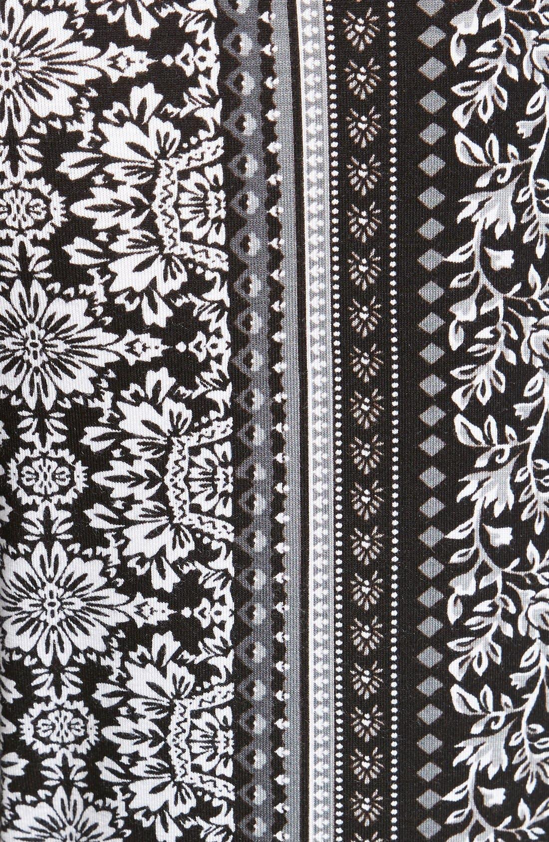 ,                             Mixed Print Flare Leg Pants,                             Alternate thumbnail 23, color,                             009