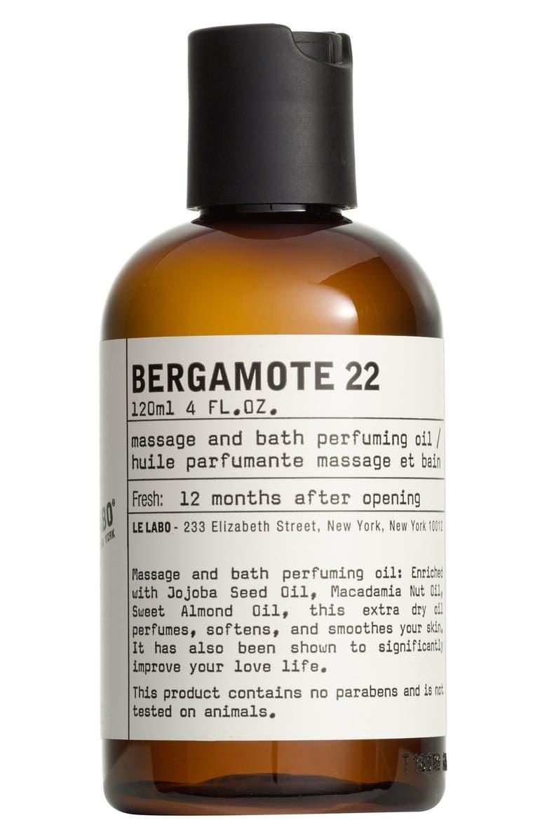 LE LABO 'Bergamote 22' Body Oil, Main, color, NO COLOR