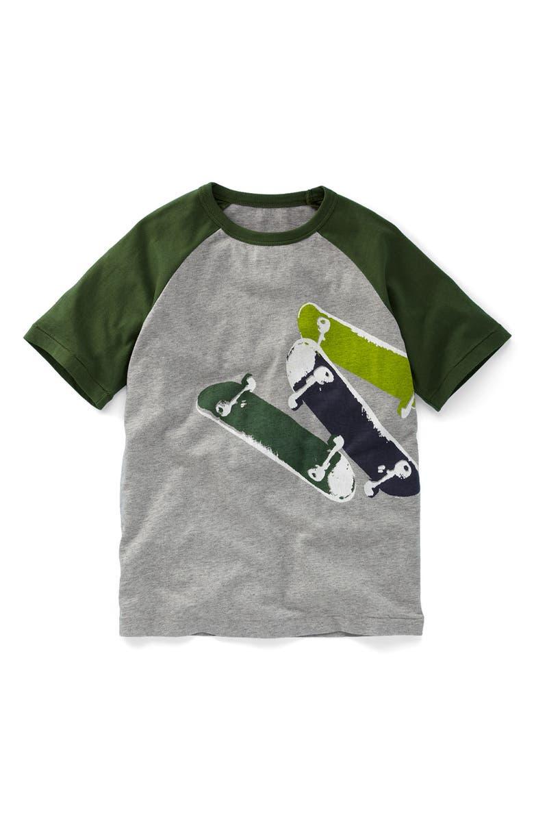 MINI BODEN Screenprint Raglan Sleeve T-Shirt, Main, color, 020