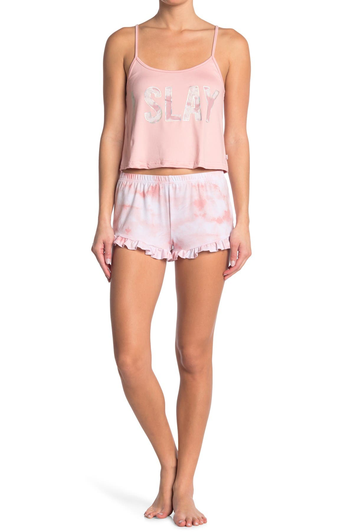 Image of FRENCH AFFAIR I Slay Camisole & Shorts Pajama 2-Piece Set
