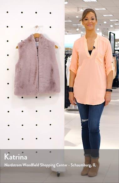 Lux Faux Fur Vest, sales video thumbnail