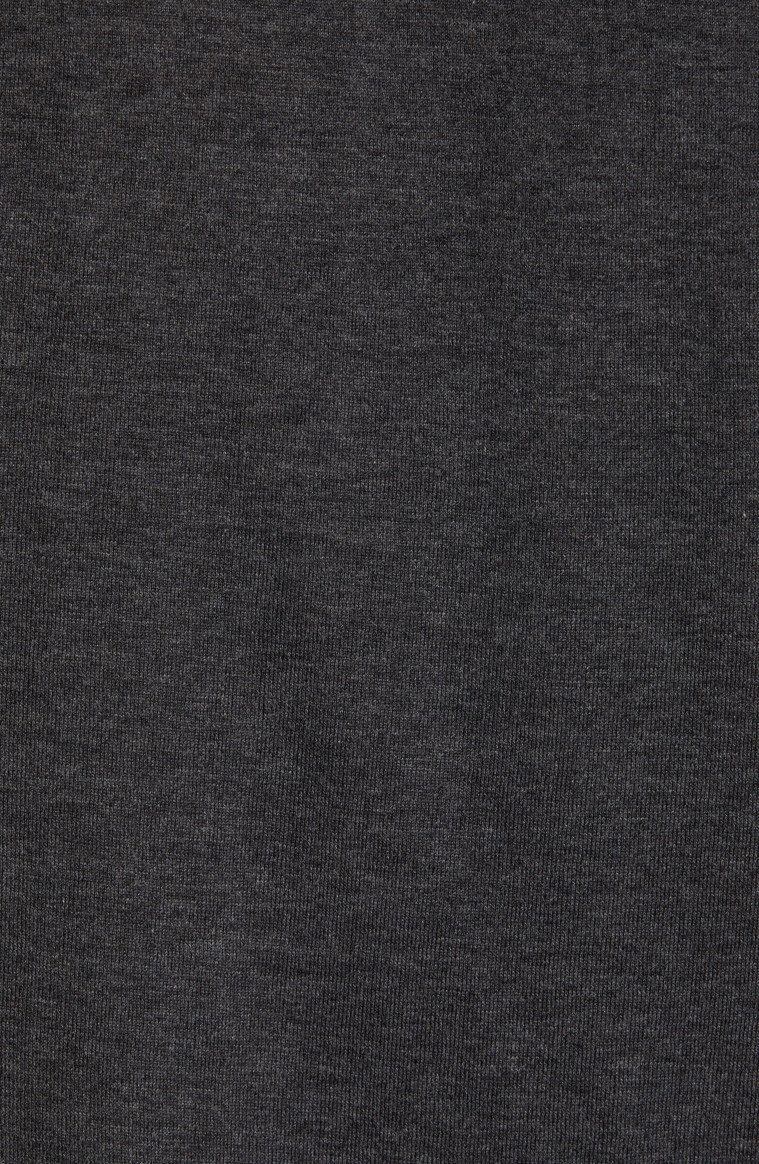 ,                             Jersey Crewneck Sweater,                             Alternate thumbnail 5, color,                             HEATHER/ CHARCOAL BLACK
