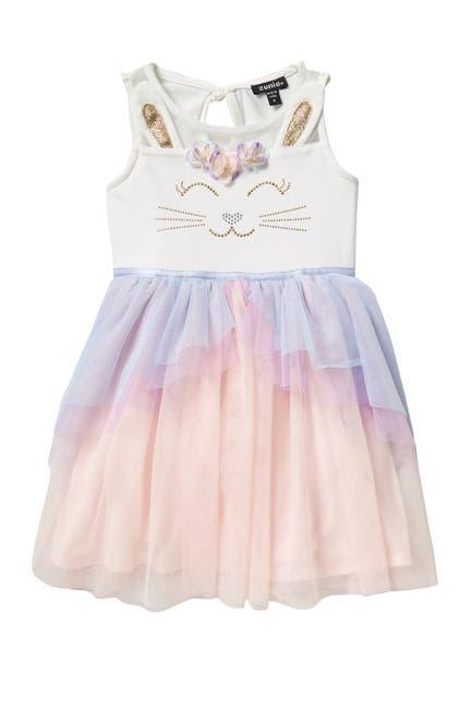 Image of Zunie Sleeveless Illusion Bunny Dress