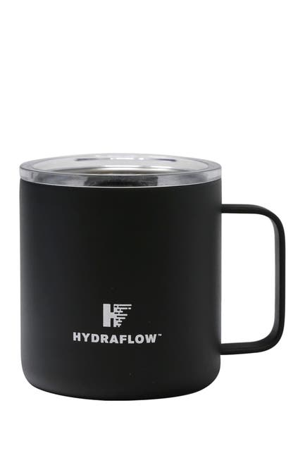 Image of Gourmet Home HYDRAFLOW 10oz. PARKER Insulated Stainless Steel Mug with Slide Lid - Black