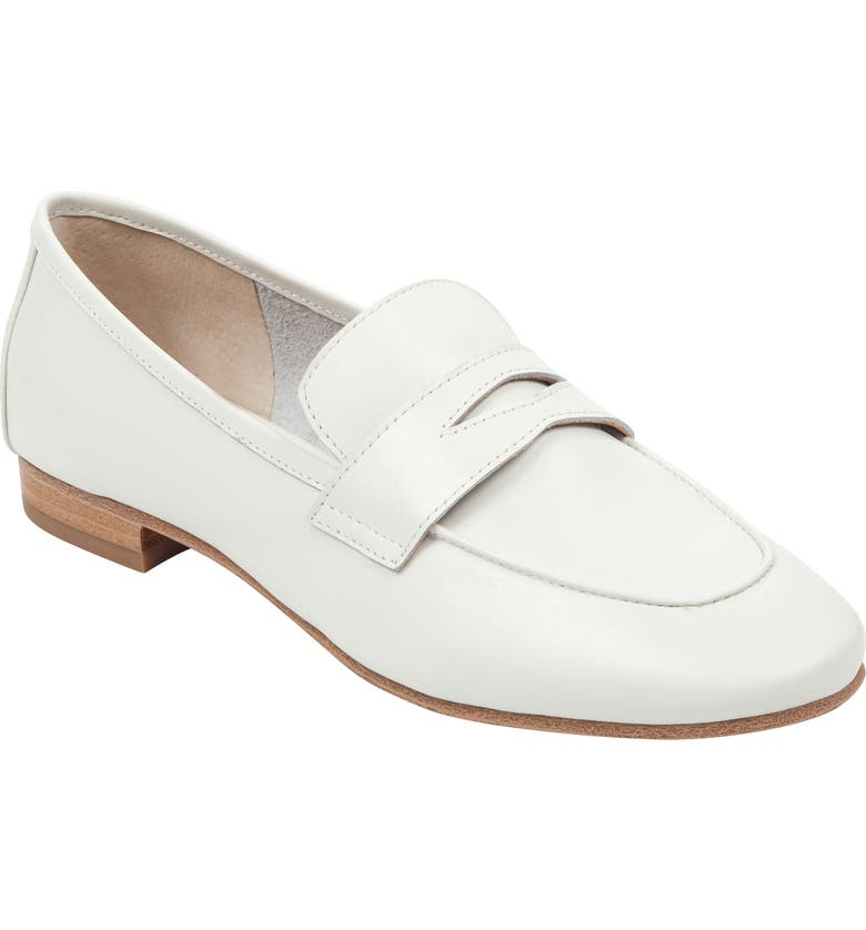 MARC FISHER LTD Chang Penny Loafer, Main, color, IVORY LEATHER