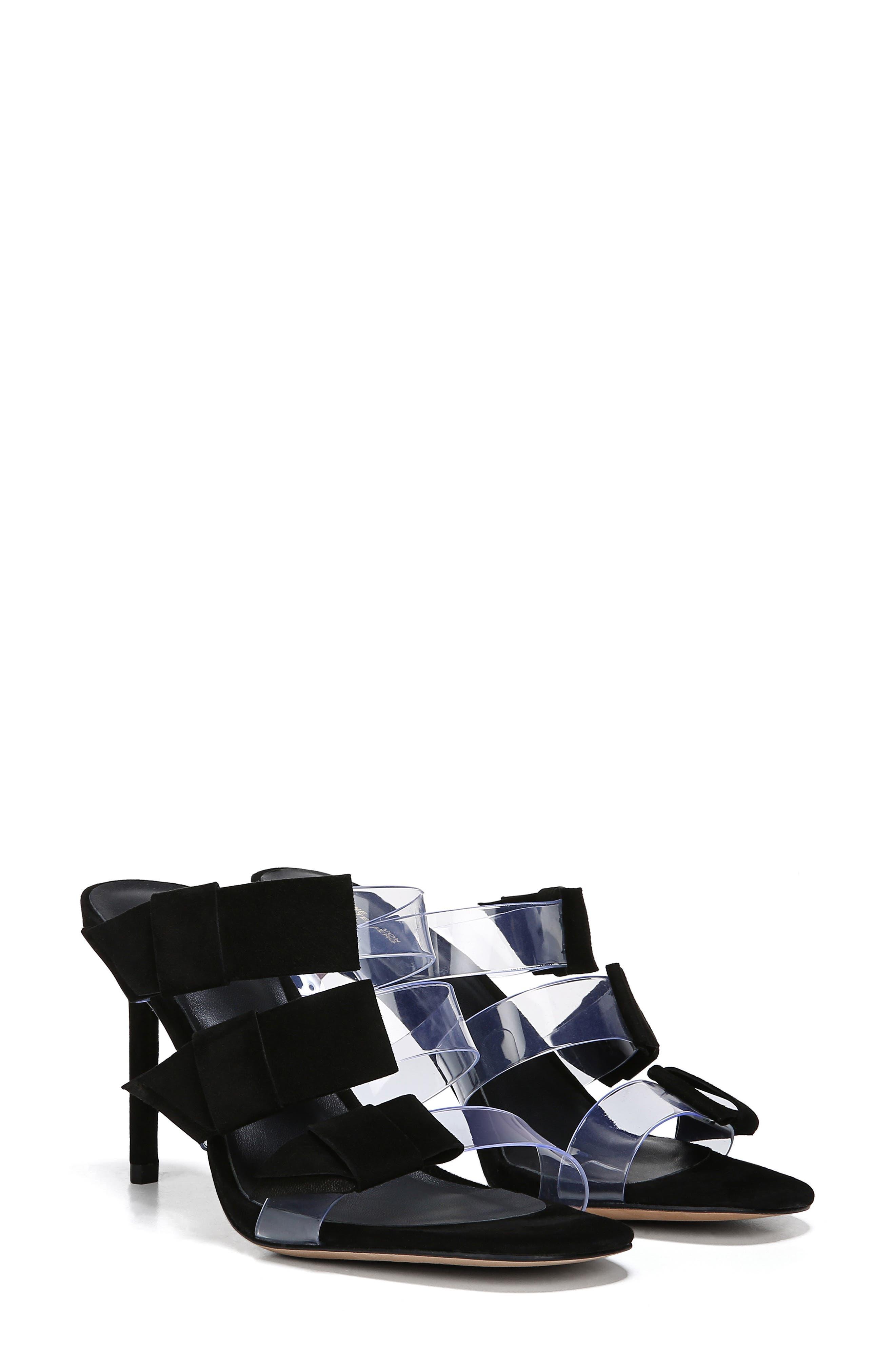 ,                             Amari Triple Strap Sandal,                             Alternate thumbnail 9, color,                             BLACK
