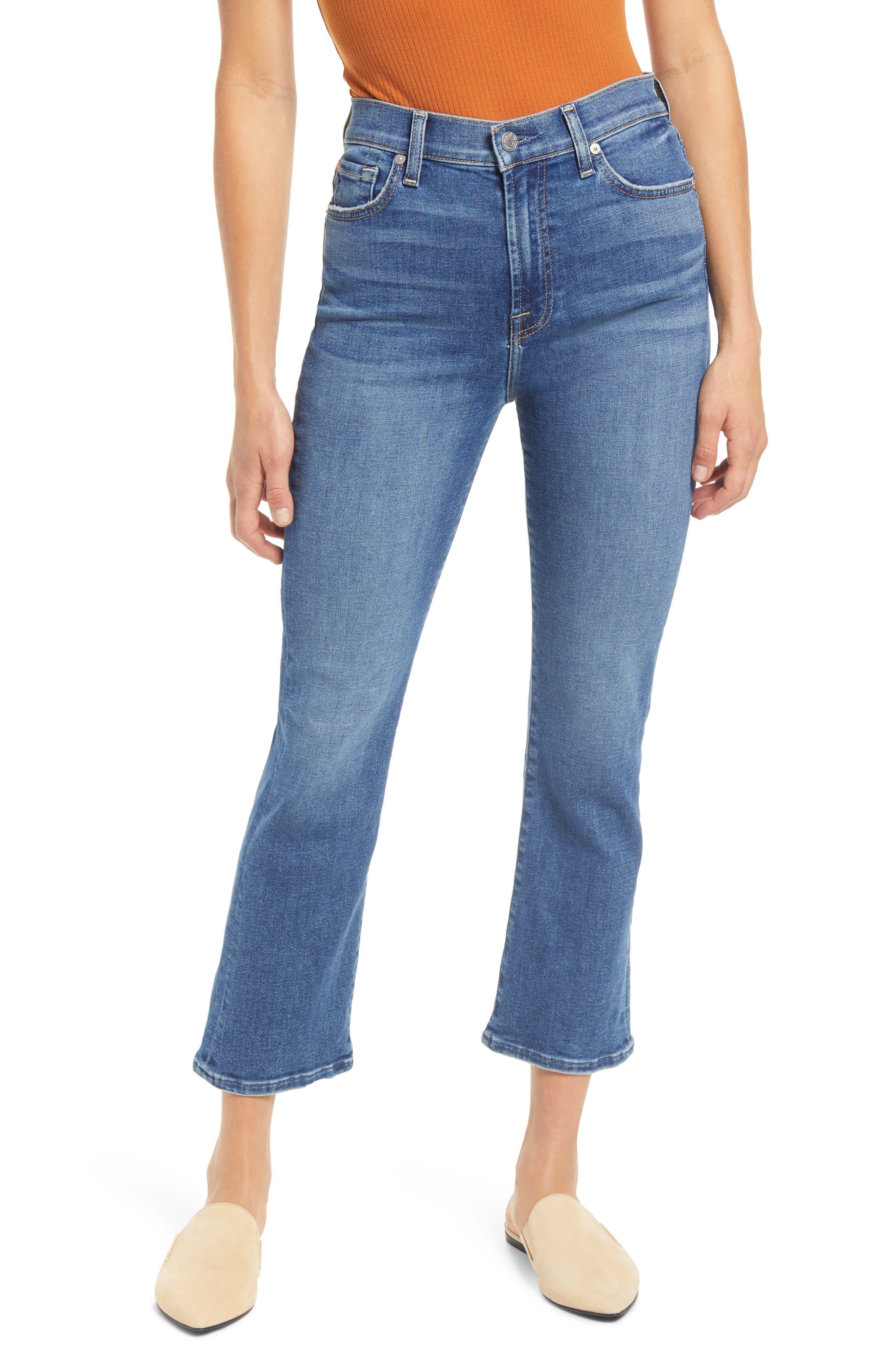 7 For All Mankind® High Waist Slim Kick Jeans (Court St)   Nordstrom