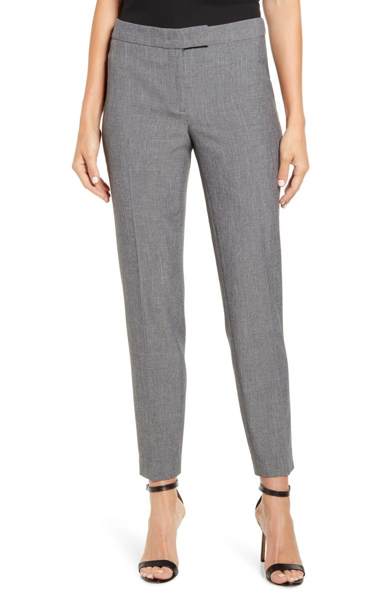 ANNE KLEIN Cross Dye Slim Fit Pants, Main, color, 001