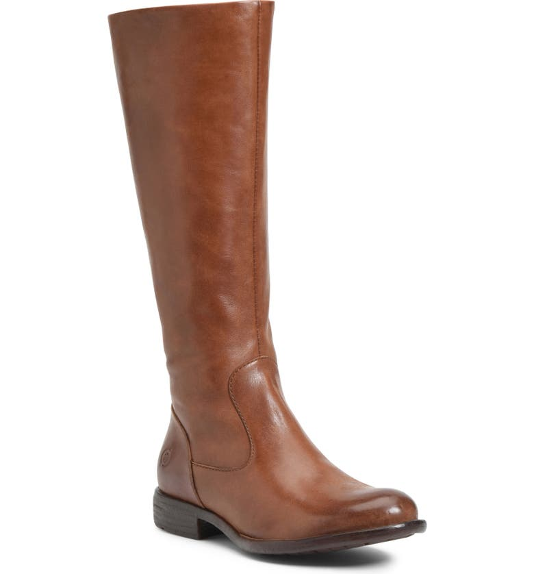 BØRN North Riding Boot, Main, color, BROWN LEATHER