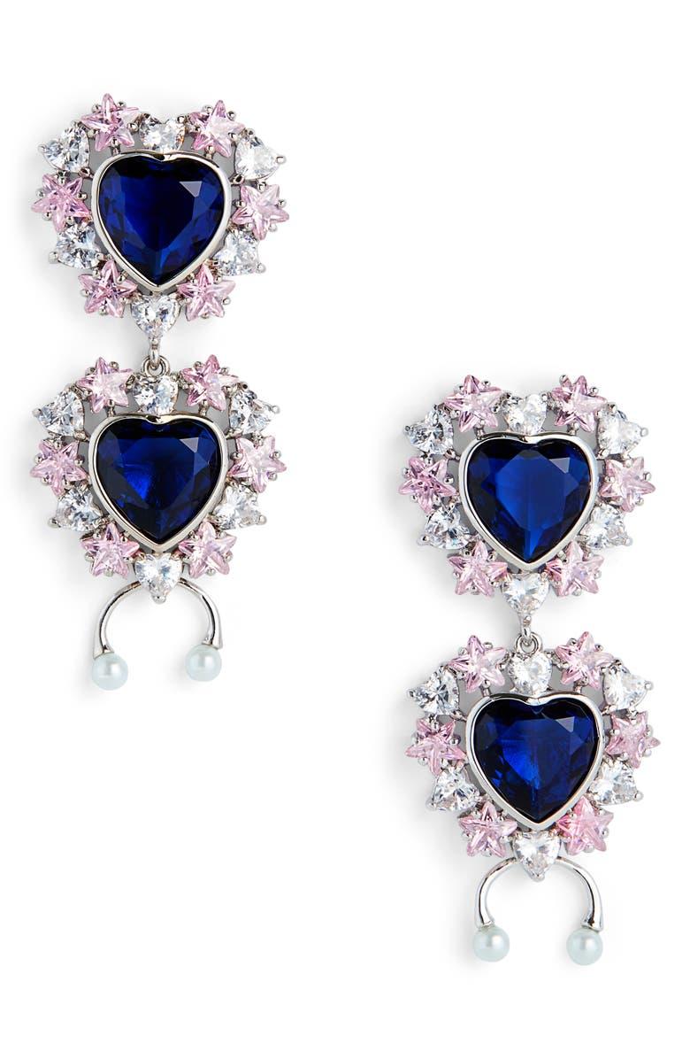 JIWINAIA Studded Heart Earrings, Main, color, 040