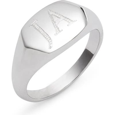 Argento Vivo Personalized Signet Ring