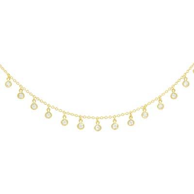 Freida Rothman Signature Bezel Drop Choker Necklace