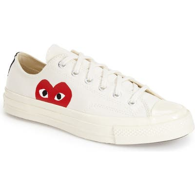 Comme Des Garcons Play X Converse Chuck Taylor Low Top Sneaker, White