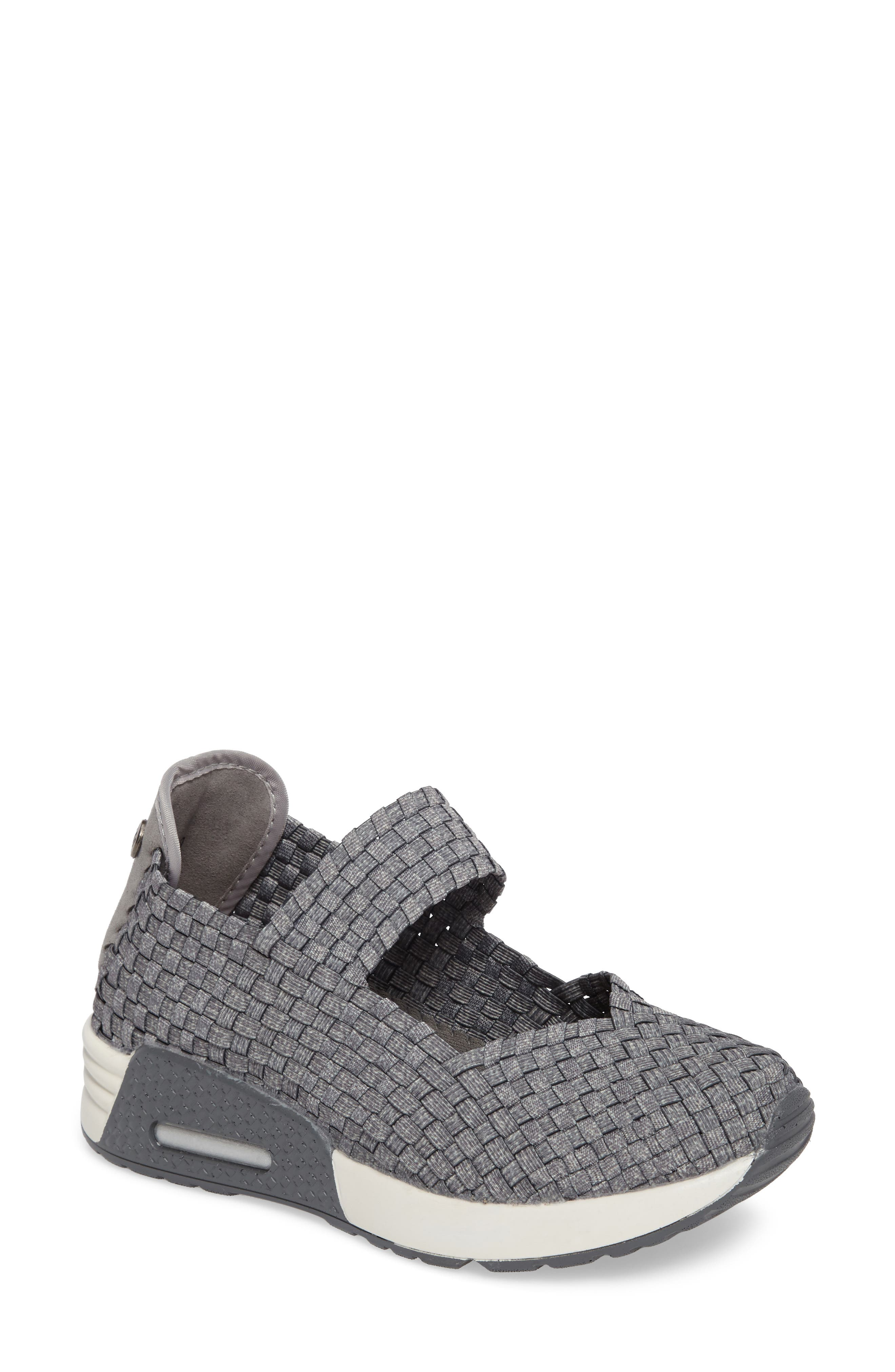 Bernie Mev. Best Charm Mary Jane Sneaker, Grey