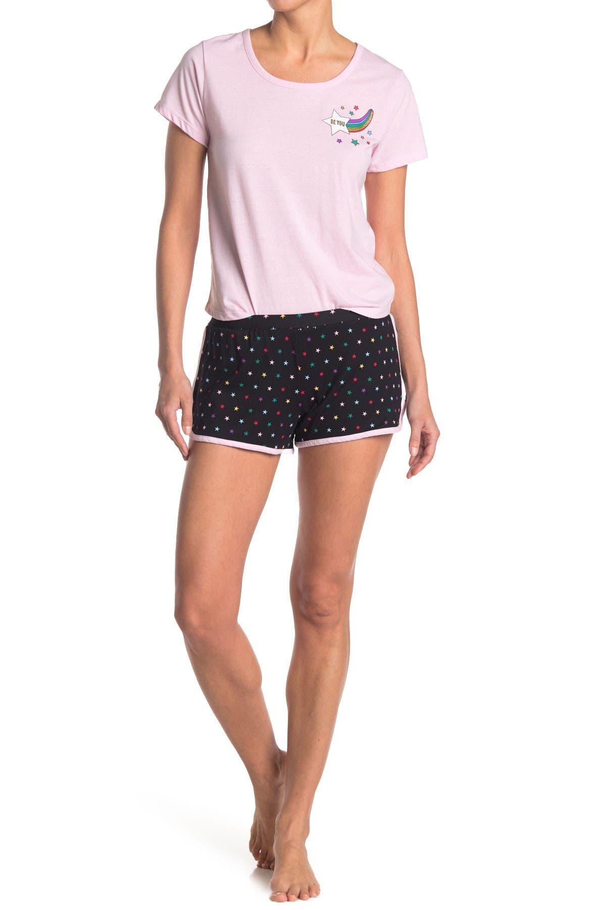 Image of PJ Couture Star 2-Piece T-Shirt & Shorts PJ Set