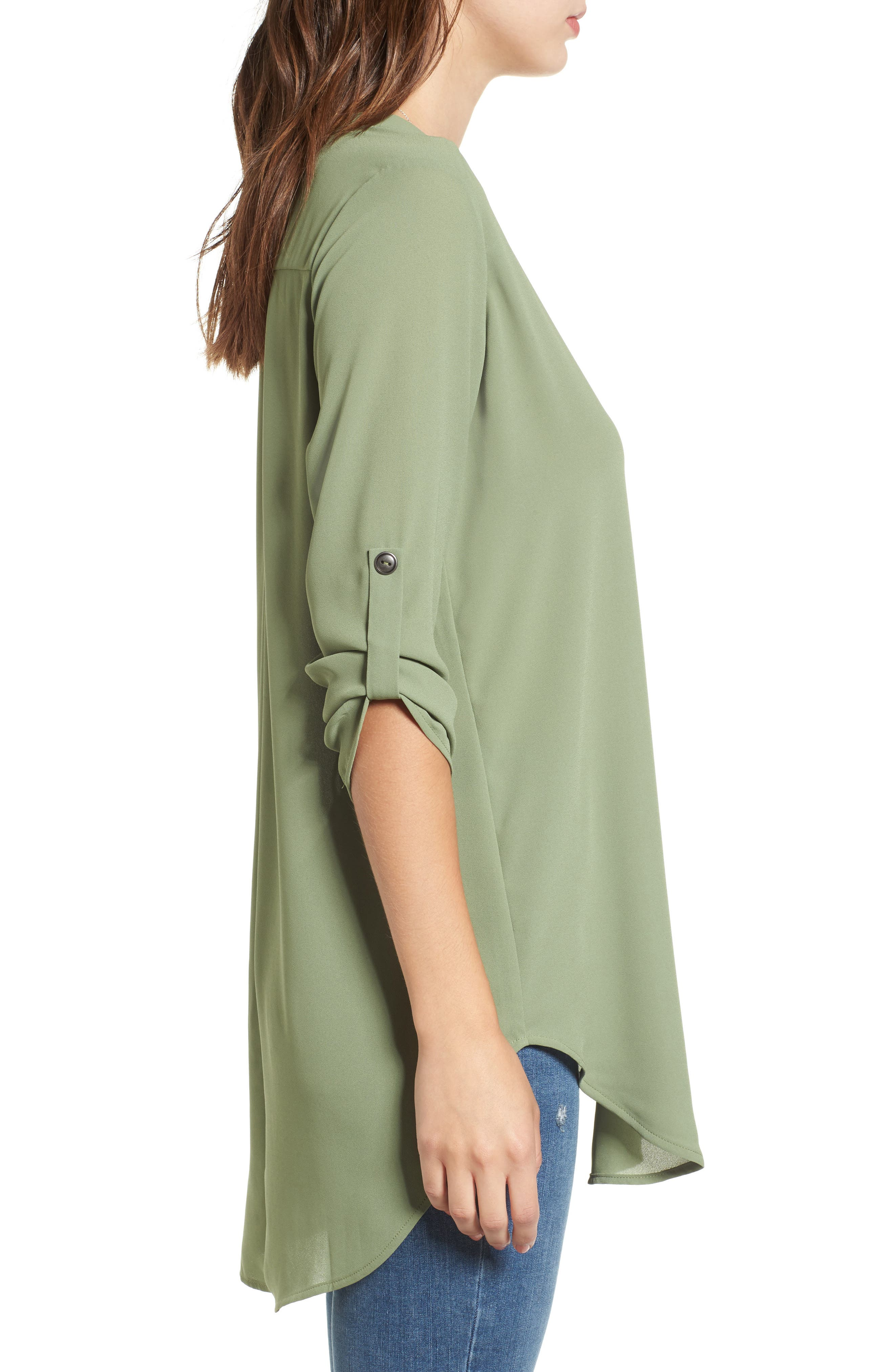 ,                             Perfect Roll Tab Sleeve Tunic,                             Alternate thumbnail 241, color,                             310